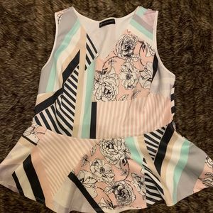NWT peplum sleeveless blouse XL